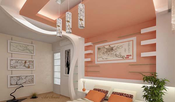 اجرای کناف سقف اتاق خواب در کیش