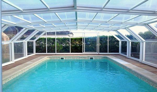 سقف کاذب پلی کربنات برای استخر