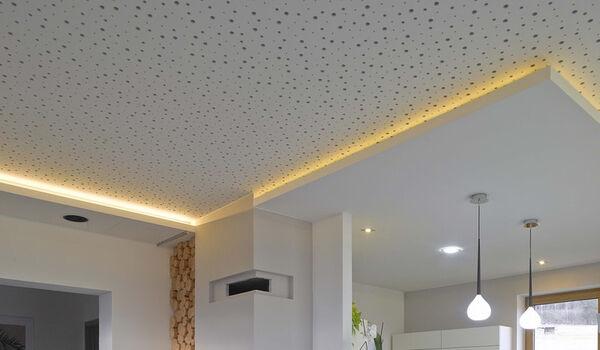 سقف کاذب گچی ساده با روکش pvc
