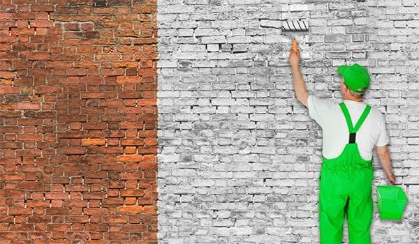رنگ آمیزی و رنگ کردن دیوار آجری